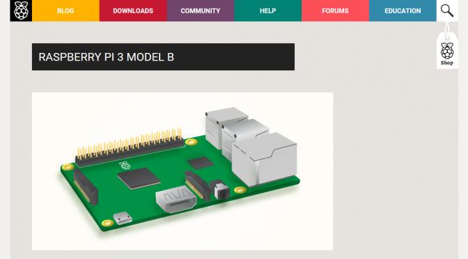 「Raspberry Pi 3」購入前にスペックを探ってみた