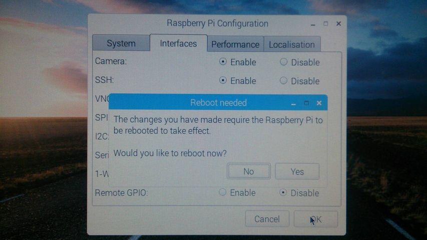 「Yes」をクリックして、OSを再起動しましょう!