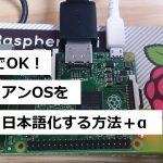 30分で完了!最速でラズベリーパイ(ラズビアンOS)の日本語化+日本語入力+その他初期設定する方法