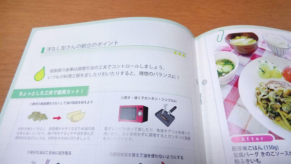 『肥満遺伝子検査DIET(ダイエット)キット』の「洋なし型」レシピブック