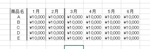 「Ctrl+Y」を使うと、前回と同じ罫線を設定することができます。